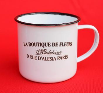 Emaille Tasse 51222 Paris 350 ml Becher Email Kaffeebecher Kaffeetasse Teetasse