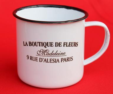 Emaille Tasse 51222 Paris 350 ml Becher Email Kaffeebecher Kaffeetasse Teetasse - Vorschau 4