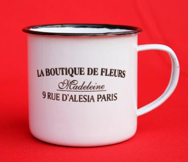 Emaille Tasse 51222 Paris 350 ml Becher Email Kaffeebecher Kaffeetasse Teetasse - Vorschau 5