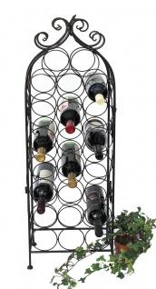 DanDiBo Weinregal Metall Schwarz 100 cm JD130665 Flaschenregal Flaschenhalter Weinständer Weinschrank Weinflaschenhalter Vintage - Vorschau 5