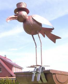 Vogel Möwe aus Metall Dachschmuck für die Dachrinne 42cm CU