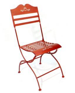 Stuhl Passion 3608 Gartenstuhl aus Metall Rot Blumenbank Blumenhocker - Vorschau 2