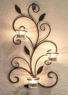 Wandteelichthalter 131004 Teelichthalter aus Metall 45cm Wandleuchter Kerzenhalter