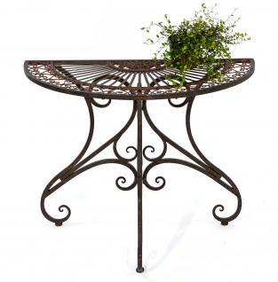 Tisch Wandtisch Vigo 19511 Beistelltisch aus Metall 90cm Halbrund Konsole
