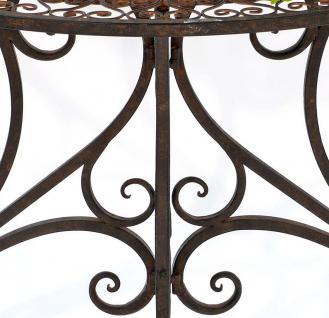 Tisch Wandtisch Vigo 19511 Beistelltisch aus Metall 90cm Halbrund Konsole - Vorschau 3