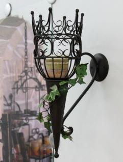 Wandleuchter Castle 92066 Wandkerzenhalter aus Metall Kerzenhalter 48cm Antik