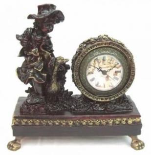 Kaminuhr Tischuhr sehr dekorativ Kolonialstil 5149
