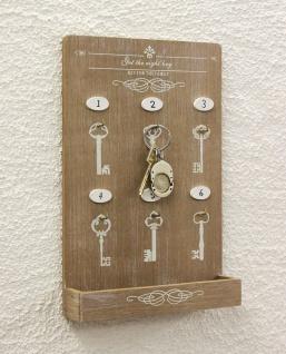 Schlüsselboard mit Ablage 18238 Schlüsselkasten Memoboard 30cm Schlüsselleiste - Vorschau 3