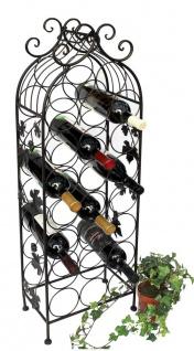 Weinregal Metall Schwarz 100 cm JD130665 Flaschenregal Flaschenhalter Weinständer Weinschrank Weinflaschenhalter Vintage