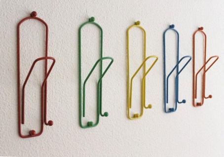 Kleiderhaken Büroklammer Set 5 Stk. Wandgarderobe 32cm Garderobe Wandhaken Haken