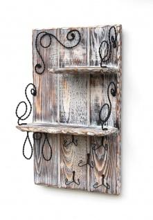 DanDiBo Wandorganizer Holz Weiß Vintage Schlüsselbrett mit Ablage 93909 Schlüsselboard Briefablage Schlüsselkasten Shabby Chic Memoboard Wandregal Schlüsselhaken - Vorschau 4