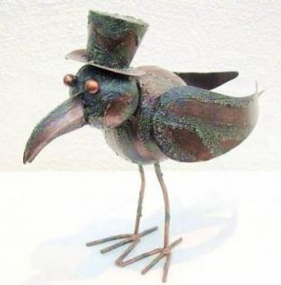 Möwe Vogel aus Metall Garten und Balkon Deko 30 cm
