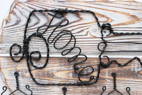 DanDiBo Schlüsselbrett Holz Schlüsselboard 93910 Schlüsselhaken handgemacht Handmade Bügel Holzschlüssel - Vorschau 3