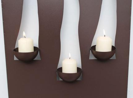 Wandleuchter Flamme 13333 Kerzenleuchter für 3 Kerzen Wandkerzenhalter aus Metall Kerzenhalter - Vorschau 2