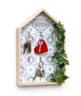 Schlüsselkasten Weiß Holz Keys 32594 Schlüsselbox Schlüsselschrank Landhaus Vintage Shabby Chic - Vorschau 2