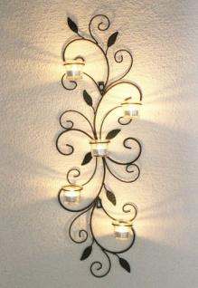 Wandteelichthalter 131001 Teelichthalter Metall 75cm Wandleuchter Kerzenhalter