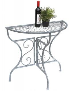 Tisch Halbrund Wandtisch 19101 Beistelltisch Metall 82cm Gartentisch Halbtisch Halbrundtisch Wandkonsole Konsole Wand