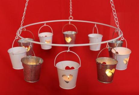 Deckenleuchter 786243 Teelichthalter Kerzenhalter D-36cm Hängeleuchter a. Metall