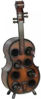 Weinregal Flaschenregal Flaschenständer Cello aus Holz