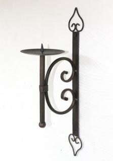 Wandkerzenhalter 12110 Kerzenhalter aus Metall Wandleuchter 41cm Kerzenleuchter - Vorschau 2
