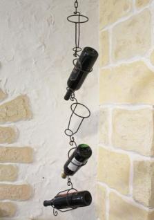 Flaschenhalter 95206 zum hängen 5-Tlg. 110cm a. Metall Flaschenständer Weinregal - Vorschau 5