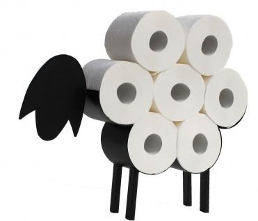 DanDiBo Toilettenpapierhalter Schwarz Metall Schaf WC Rollenhalter Freistehend WC Papierhalter Toilettenrollenhalter Lustig - Vorschau 2
