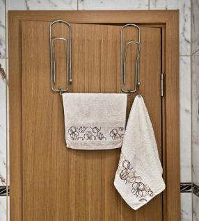"""Designer Türgarderobe """" Büroklammer"""" 32cm Türhaken Garderobe Kleiderhaken Haken"""
