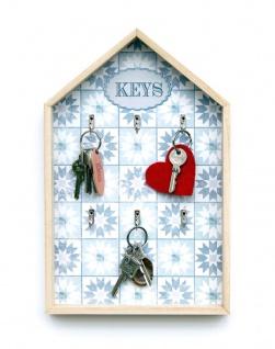 Schlüsselkasten Weiß Holz Keys 32594 Schlüsselbox Schlüsselschrank Landhaus Vintage Shabby Chic - Vorschau 5
