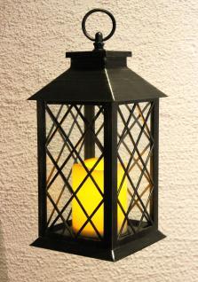 Laterne mit LED Kerze 60004 Windlicht 33cm Kerzenleuchter Batteriebetrieben