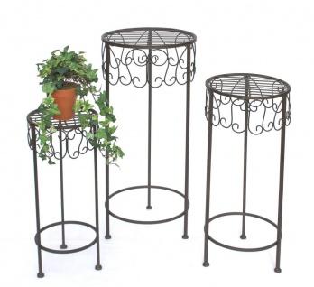 Blumenhocker 140128 Blumenständer 50-60-70cm 3er Set Pflanzenständer Hocker Beistelltisch Blumensäule