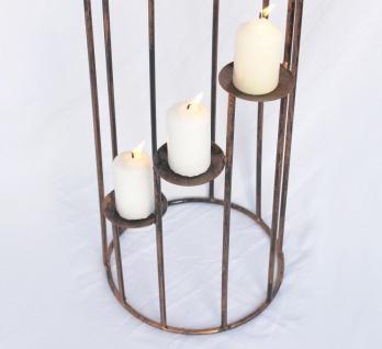 Kerzenständer Art.225 aus Schmiedeeisen 102cm Kerzenleuchter Kerzenhalter Metall - Vorschau 3
