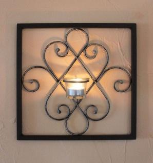 DanDiBo Wandteelichthalter Arabika Metall Wand Schwarz 31 cm Teelichthalter Kerzenhalter Wandkerzenhalter Wandleuchter
