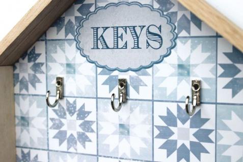 Schlüsselkasten Weiß Holz Keys 32594 Schlüsselbox Schlüsselschrank Landhaus Vintage Shabby Chic - Vorschau 4