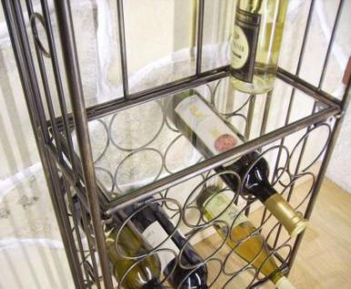 Weinregal 94031 Flaschenständer aus Metall 115cm Flaschenhalter Regal Bar - Vorschau 2