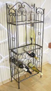 Weinregal 94031 Flaschenständer aus Metall 115cm Flaschenhalter Regal Bar - Vorschau 1