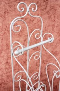 Toilettenpapierhalter Antik Weiß Metall HX13608 WC Rollenhalter Freistehend Vintage WC Papierhalter Shabby Chic - Vorschau 4