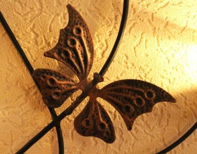 Doppelherz Wandteelichthalter Herz 65 cm Teelichthalter aus Metall Wandleuchter Kerzenhalter - Vorschau 3