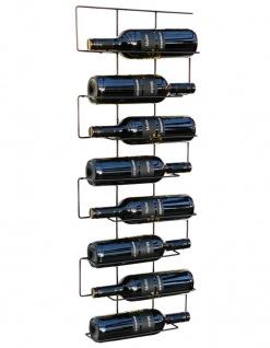 Weinregal Flaschenregal Metall Schwarz Schmal 96135 Wand Flaschenständer Flaschenhalter