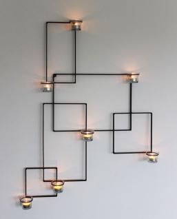 DanDiBo Wandteelichthalter Alegria Metall Wand Schwarz Teelichthalter Kerzenhalter Wandkerzenhalter Wandleuchter - Vorschau 1