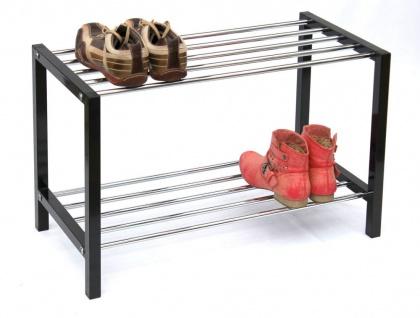 Schuhregal Art.388 Schuhbank 70cm Schuhschrank aus Metall Schuhablage Modern - Vorschau 4