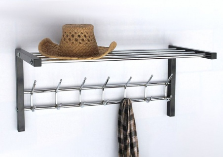 Wandgarderobe mit Hutablage Art.389 Garderobe 70cm Kleiderhaken Wandregal Haken