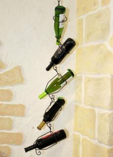 Flaschenhalter 95206 zum hängen 5-Tlg. 110cm a. Metall Flaschenständer Weinregal - Vorschau 3