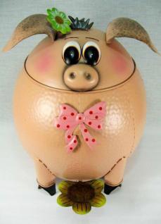 Abfalleimer Schwein Treteimer Mülleimer aus Metall 40cm - Vorschau 2