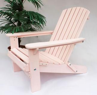 DanDiBo Strandstuhl Sonnenstuhl aus Holz Rosa Gartenstuhl klappbar Adirondack Chair Deckchair