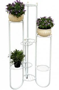 DanDiBo Blumentreppe Metall Weiß 93924 Pflanzenentreppe 121 cm Blumenregal Pflanzenständer Blumenständer