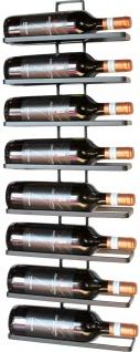 DanDiBo Weinregal aus Metall in Schwarz für die Wandmontage 4-Wine 2er Set erweiterbar Flaschenständer Flaschenregal Flaschenhalter