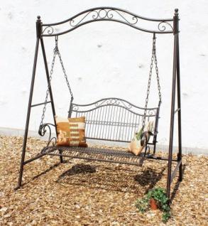 DanDiBo Hollywoodschaukel Metall Antik 2 Sitzer Gartenschaukel 082505 Schaukel Garten Schmiedeeisen