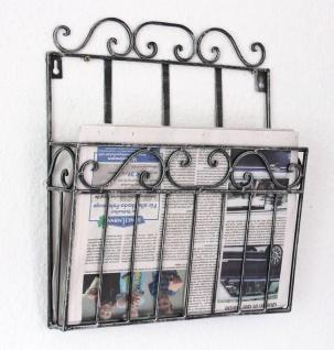 Wandregal Zeitungsständer 09913 Magazinhalter 38cm Küchenregal Zeitungshalter