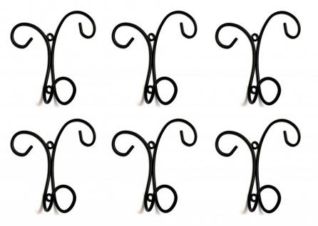 6x Wandhaken Kleiderhaken Antik Metall Schwarz 15 cm Haken Garderobenhaken Vintage Eisen