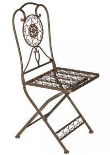 Gartenstuhl Metall Tecla 17921 Metallstuhl Stuhl Garten Vintage Eisen Nostalgie Eisenstuhl Braun Antik